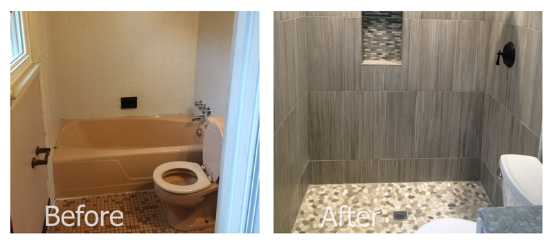 Bathroom Remodel In Silver Spring MD Zoltan Stone Works - Bathroom remodeling silver spring md