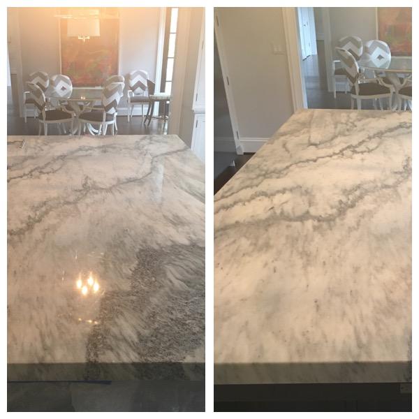 Carrera Marble Counter Top Resurfacing In Baltimore Md