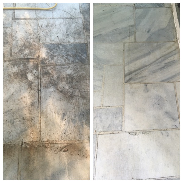 Marble porch floor in Gaithersburg, MD gets polished!