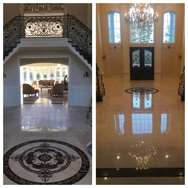 Emergency Crema Marfil Marble Foyer Repair In Mclean Va