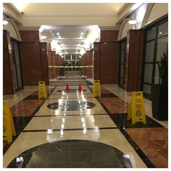 Marble Maintenance Job done in Office Building in Fairfax, VA