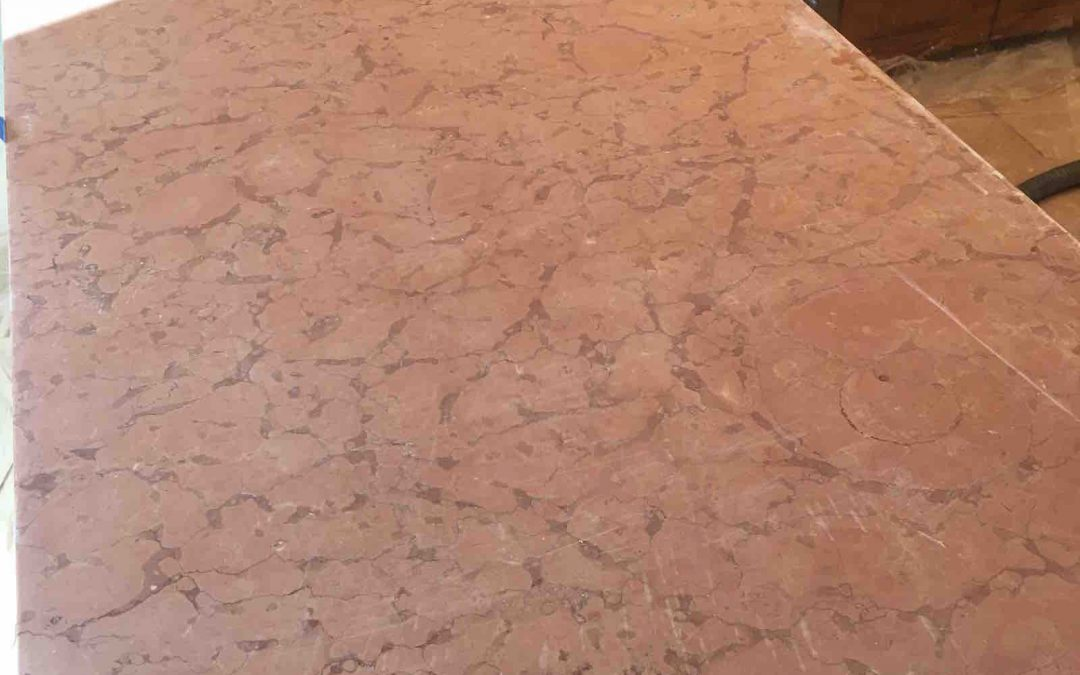 Rosso Verona Marble Countertop Refinished in Potomac MD