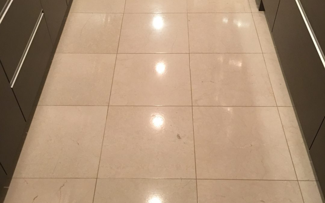 Limestone Floor and Counter Restoration in Georgetown, D.C.