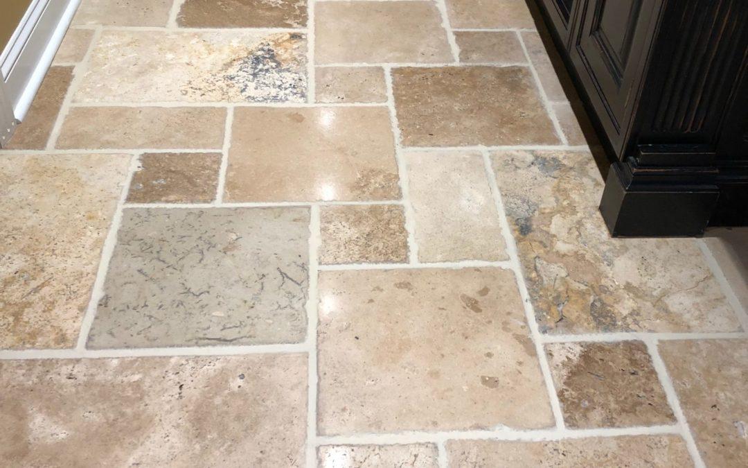 French Travertine Floor Restoration | Georgetown Area