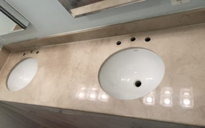 Crema Marfil Marble Vanity Restoration | Chevy Chase, MD