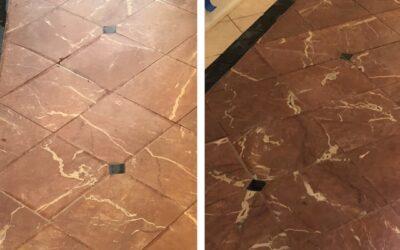 Project: Rojo Alicante Floor Clean & Polish in Georgetown
